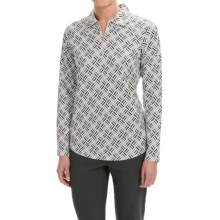 Bette & Court Kyra Zip Neck Polo Shirt - UPF 30+, Long Sleeve (For Women) in Bar Steel Grey - Closeouts