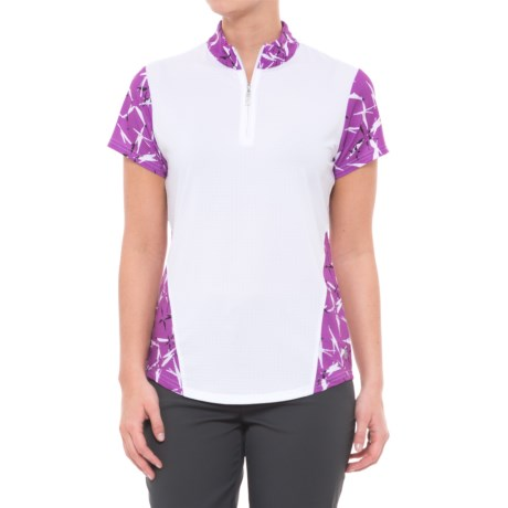Bette & Court Lookin Berry Good Golf Polo Shirt - UPF 50, Short Sleeve (For Women) in White