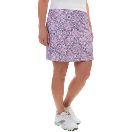 Bette & Court Printed Vida Skort - UPF 50 (For Women) in Lavender - Closeouts