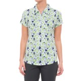 Bette & Court Scalene Printed Golf Polo Shirt - UPF 50, Zip Neck, Short Sleeve (For Women)