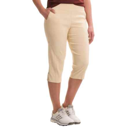 Bette & Court Smooth-Fit Golf Capris (For Women) in Stone - Closeouts