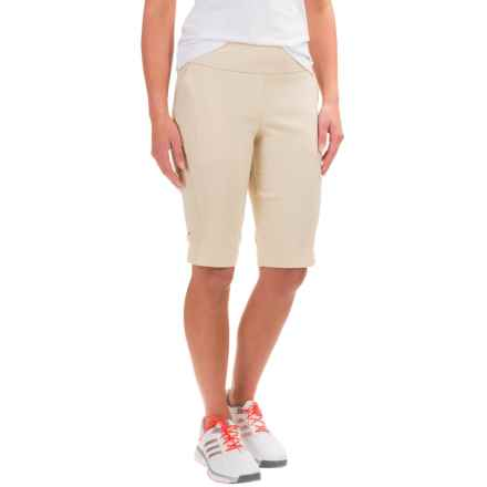 Bette & Court Smooth Fit Shorts (For Women) in Stone - Closeouts