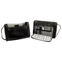 Bey-Berk International Manicure and Grooming Set with Hanging Toiletry Bag Set - 6-Piece in Black - Closeouts