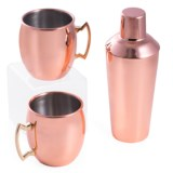 Bey-Berk International Moscow Mule Cup and Shaker Set - 3-Piece