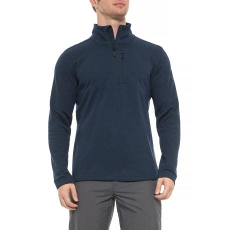 Image of Bi-Stretch Twill Zip Neck Shirt - Long Sleeve (For Men)