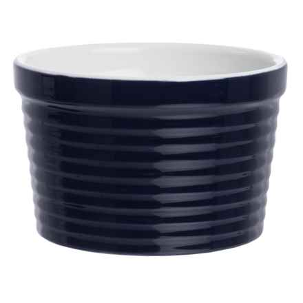 BIA Cordon Bleu BIA Cordon Blue Textured Porcelain Ramekin - 12 oz. in Horizontal Cobalt - Closeouts