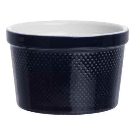 BIA Cordon Bleu BIA Cordon Blue Textured Porcelain Ramekin - 12 oz. in Lattice Cobalt - Closeouts