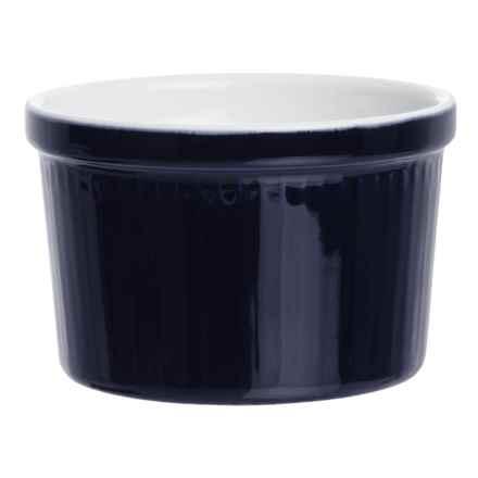 BIA Cordon Bleu BIA Cordon Blue Textured Porcelain Ramekin - 12 oz. in Vertical Cobalt - Closeouts