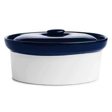 BIA Cordon Bleu Covered Oval Porcelain Baker with Lid - 1.5 qt. in Cobalt - Closeouts