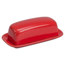 BIA Cordon Bleu Porcelain Covered Butter Dish in Red - Closeouts