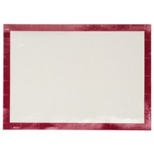 "BIA Cordon Bleu Silicone Baking Mat - 11-3/4x16-1/2"" in Red/White - Closeouts"