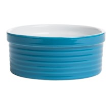 BIA Cordon Bleu Textured Souffle Dish in Neptune Horizontal Stripe - Closeouts