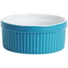 BIA Cordon Bleu Textured Souffle Dish in Neptune Vertical Stripe - Closeouts