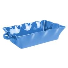 Bia Cordon Bleu Wavy Rectangle Baker - Handles, Ceramic, 96 oz. in Neptune - Closeouts
