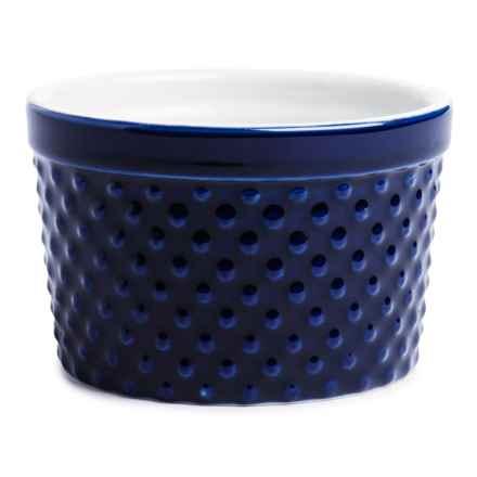 BIA Cordon Blue Textured Porcelain Ramekin - 12 oz. in Dots Cobalt - Closeouts