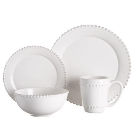 Image of Bianca Bead Round Dinnerware Set - 16-Piece