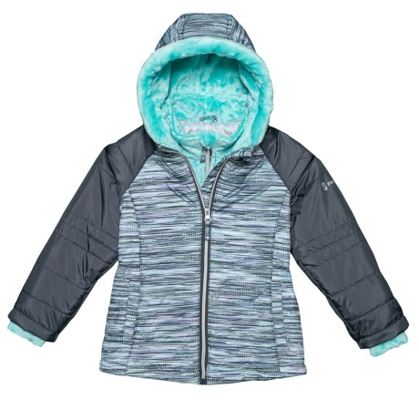 Image of Bib Puffer Jacket with Butterpile Lining - Insulated (For Little Girls)