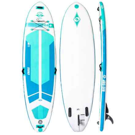 """BIC Sport 10'6"""" SUP AIR Fit Stand-Up Paddle Board - Inflatable in White/Green - Closeouts"""
