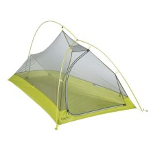 Big Agnes Fly Creek Platinum Tent - 1-Person, 3-Season in Silver/Lime - Closeouts