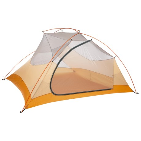 Big Agnes Fly Creek Ultralight 4 Tent with Footprint - 4-Person, 3-Season in Cool Grey/Gold