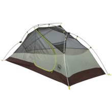 Big Agnes Jack Rabbit SL 1 Tent with Footprint - 1-Person, 3-Season in Silver/Plum - Closeouts