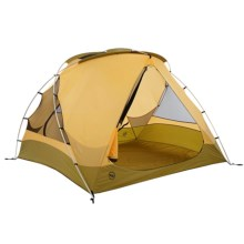 Big Agnes Mad House Tent with Footprint - 4-Person, 3-Season in Moss/Yellow - Closeouts