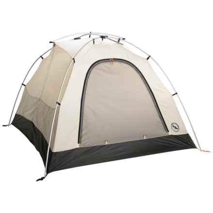 Big Agnes Teepee Creek Tent - 4-Person, 3-Season in Moss/Charcoal/Cream - Closeouts