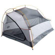 Big Agnes Triangle Mountain UL 2 Tent with Footprint - 2-Person, 3-Season in Gray/Silver Gray/Russet Orange - Closeouts