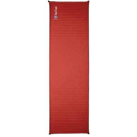 Big Agnes Two Track Inflatable Sleeping Pad - Rectangular, Petite in Rust/Black - Closeouts