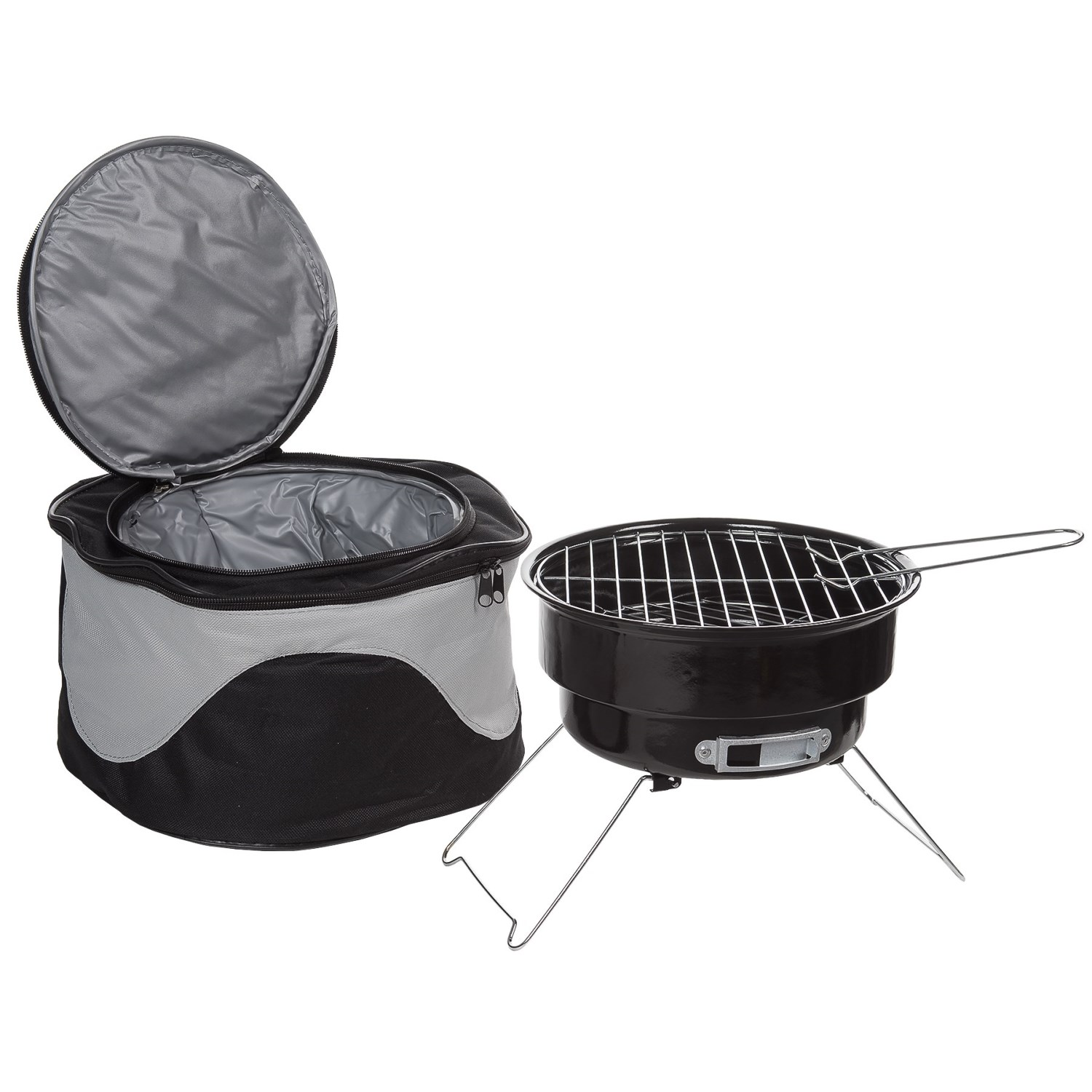 Big Backyard Portable Barbecue Grill And Cooler Bag Combo