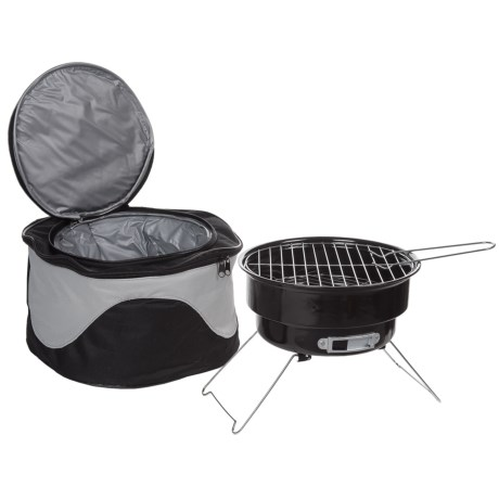 Big Backyard Portable Barbecue Grill and Cooler Bag Combo in See Photo