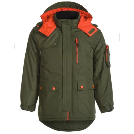 Big Chill Arctic Expedition Jacket - Insulated (For Big Boys) in Forest/Safety Orange