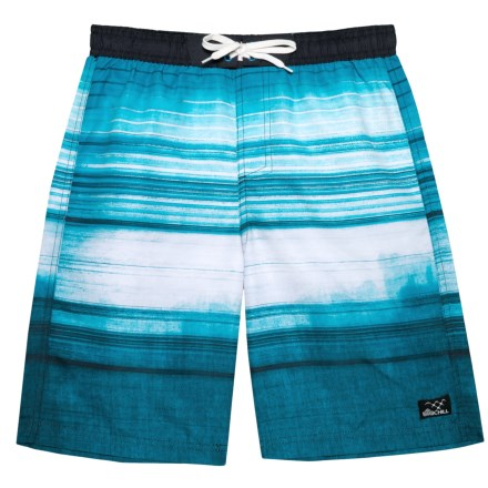 692dafb86f Big Chill Blue Faded Stripe Swim Shorts - UPF 50 (For Big Boys) in