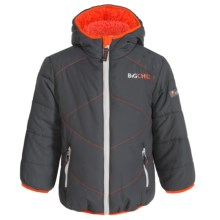 Big Chill Chevron Stitch Puffer Jacket - Insulated (For Big Boys) in Charcoal - Closeouts