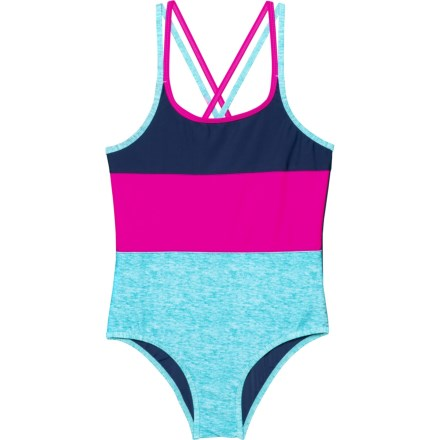 fcd3f310a3d Big Chill Color-Block One-Piece Swimsuit - UPF 50 (For Big Girls