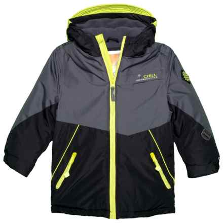 Big Chill Color Detail Board Jacket - Insulated (For Little Boys) in Black - Closeouts