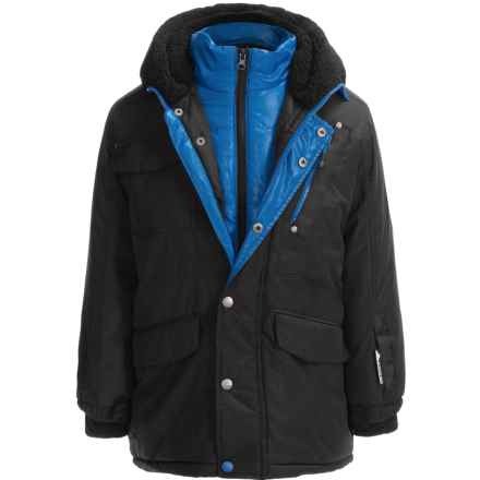 Big Chill Expedition Hooded Jacket - Insulated (For Big Boys) in Black - Closeouts