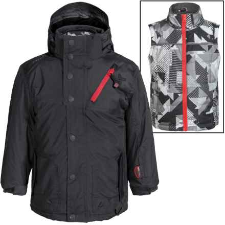 Big Chill Freestyle Jacket - 3-in-1, Insulated (For Big Boys) in Charcoal - Closeouts