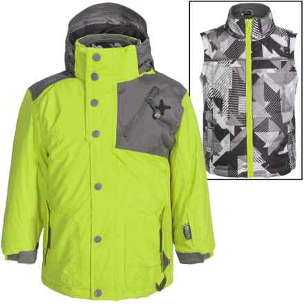 Big Chill Freestyle Jacket - 3-in-1, Insulated (For Big Boys) in Mantis - Closeouts