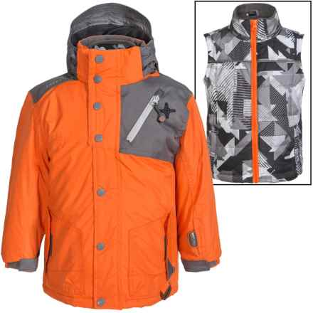Big Chill Freestyle Jacket - 3-in-1, Insulated (For Big Boys) in Orange - Closeouts