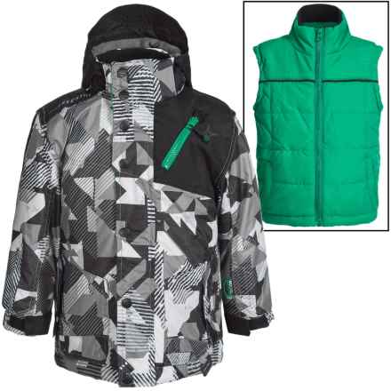 Big Chill Freestyle Jacket - 3-in-1, Insulated (For Big Boys) in White - Closeouts