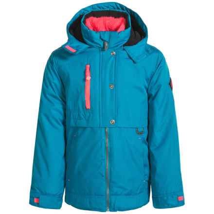 Big Chill Heavyweight Jacket - Insulated (For Little Girls) in Greek Blue - Closeouts