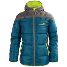 Big Chill Hooded Puffer Jacket - Insulated (For Big Boys) in Rainstorm - Closeouts