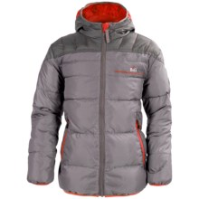 Big Chill Hooded Puffer Jacket - Insulated (For Big Boys) in Smoked Pearl - Closeouts