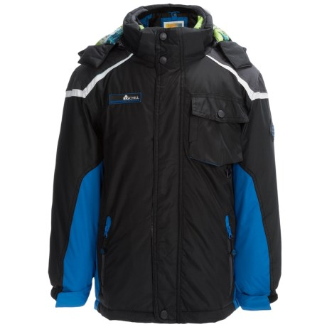 Big Chill Hooded Systems Jacket - 3-in-1, Insulated (For Big Boys) in Black