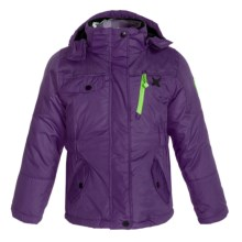 Big Chill Multicolor 3-in-1 Jacket - Insulated (For Big Girls) in Grape - Closeouts