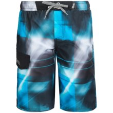 Big Chill Printed Boardshorts - UPF 50 (For Big Boys) in Blue - Closeouts