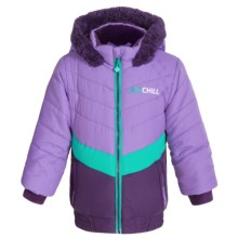Big Chill Puffer Jacket - Insulated (For Big Girls) in Purple - Closeouts