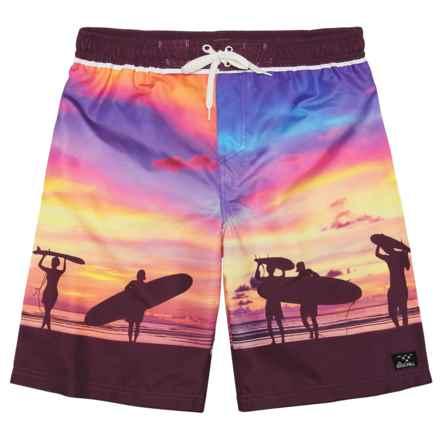 Big Chill Scenic Boardshorts - UPF 50 (For Big Boys) in Purple - Closeouts