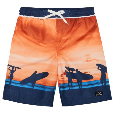 Big Chill Scenic Boardshorts - UPF 50 (For Little Boys) in Orange